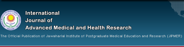 International Journal of Advanced Medical and Health Research